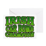 Irish Car Bomb Champion Shamrock Greeting Card