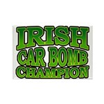 Irish Car Bomb Champion Shamrock Rectangle Magnet