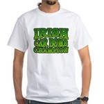 Irish Car Bomb Champion Shamrock White T-Shirt