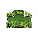 Kiss Me I'm Italian Shamrock Mini Poster Print