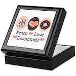 Peace Love Doughnuts Donut Keepsake Box