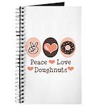 Peace Love Doughnuts Donut Journal