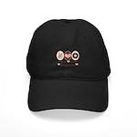 Peace Love Doughnuts Donut Black Cap