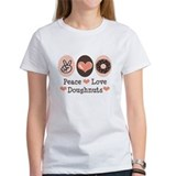 Peace Love Doughnuts Donut Tee
