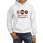 Peace Love Doughnuts Donut Hooded Sweatshirt