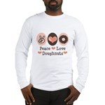 Peace Love Doughnuts Donut Long Sleeve T-Shirt