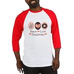 Peace Love Doughnuts Donut Baseball Jersey
