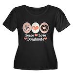 Peace Love Doughnuts Donut Women's Plus Size Scoop