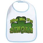 Kiss Me I'm Single Shamrock Bib