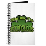 Kiss Me I'm Single Shamrock Journal