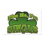 Kiss Me I'm Single Shamrock Mini Poster Print
