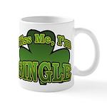 Kiss Me I'm Single Shamrock Mug