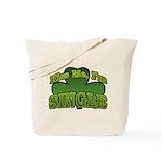 Kiss Me I'm Single Shamrock Tote Bag