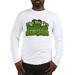 Kiss Me I'm Single Shamrock Long Sleeve T-Shirt