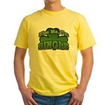 Kiss Me I'm Single Shamrock Yellow T-Shirt