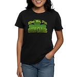 Kiss Me I'm Single Shamrock Women's Dark T-Shirt
