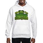 Kiss Me I'm Single Shamrock Hooded Sweatshirt