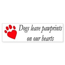 Dog Heart Paw Bumper Bumper Sticker