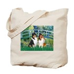 Bridge / Two Collies Tote Bag