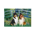 Bridge / Two Collies Rectangle Magnet