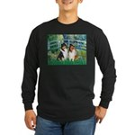 Bridge / Two Collies Long Sleeve Dark T-Shirt