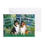Bridge / Two Collies Greeting Card