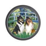 Bridge / Two Collies Wall Clock
