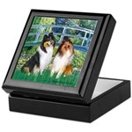 Bridge / Two Collies Keepsake Box