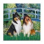 Bridge / Two Collies Tile Coaster