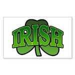 Irish Shamrock Shamrock Rectangle Sticker