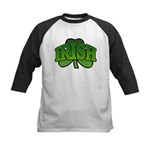 Irish Shamrock Shamrock Kids Baseball Jersey