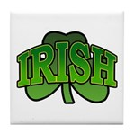 Irish Shamrock Shamrock Tile Coaster