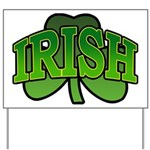 Irish Shamrock Shamrock Yard Sign
