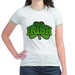 Irish Shamrock Shamrock Jr. Ringer T-Shirt