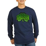 Irish Shamrock Shamrock Long Sleeve Dark T-Shirt