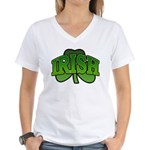 Irish Shamrock Shamrock Women's V-Neck T-Shirt