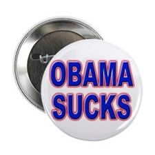 "Obama Sucks 2.25"" Button (10 pack)"