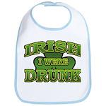 Irish I Were Drunk Shamrock Bib