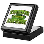 Irish I Were Drunk Shamrock Keepsake Box