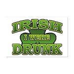 Irish I Were Drunk Shamrock Mini Poster Print