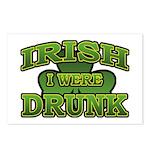 Irish I Were Drunk Shamrock Postcards (Package of