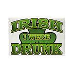 Irish I Were Drunk Shamrock Rectangle Magnet (10 p