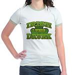 Irish I Were Drunk Shamrock Jr. Ringer T-Shirt