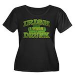 Irish I Were Drunk Shamrock Women's Plus Size Scoo