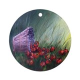 """Apples in the Grass"" Ornament (Round)"