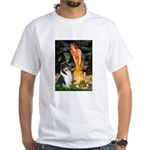 Midsummer's Eve / Collie (tri) White T-Shirt