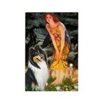 Midsummer's Eve / Collie (tri) Rectangle Magnet (1