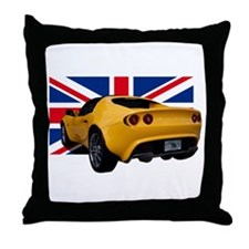 Yellow Elise UK Throw Pillow