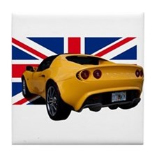 Yellow Elise UK Tile Coaster