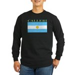 Calleri Argentina Flag Long Sleeve Dark T-Shirt